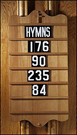 Wall Mount Hymn Board