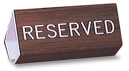 "6""  Reserved Flex Pew Sign"