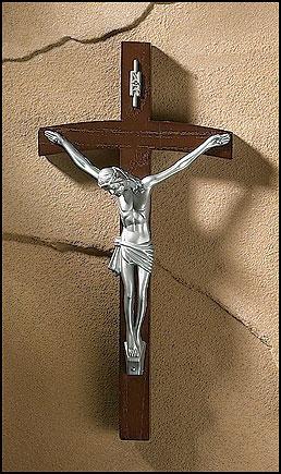 """8"""" Papal Wall Crucifix"""