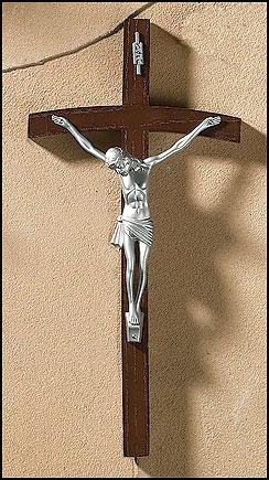 """10"""" Papal Wall Crucifix"""