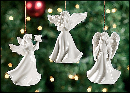 Angel With Dove Light Cover Ornament 12 Pk Gifts