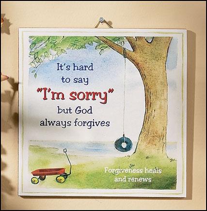 Children's Forgiveness Plaque