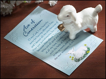 Lamb Pocket Token with Act of Contrition Card - 24/pk