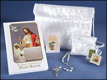 Heavenly Feast First Communion Satin Purse Set