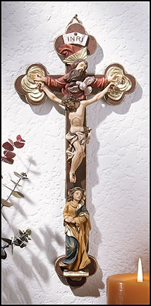 Mary and Holy Trinity Crucifix
