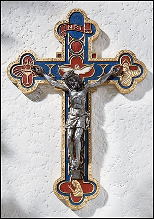 Bread of Life Wall Crucifix - 2/pk