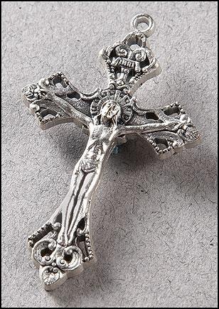 Silver Oxidized Crucifix Pendant