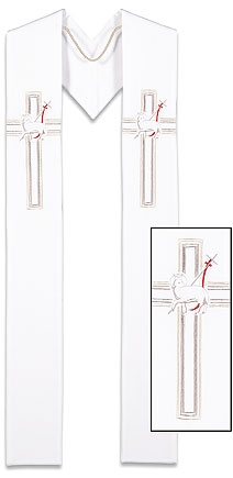 Lucia Collection Overlay Stole - Lamb of God