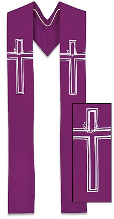 Lucia Collection Overlay Stole - Crown of Thorns