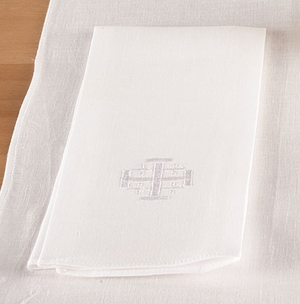 100% Linen Jerusalem Cross Lavabo Towel - 4/pk