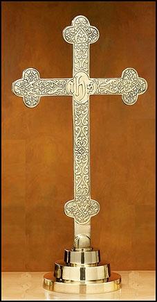Budded Altar Cross with Filigree Design