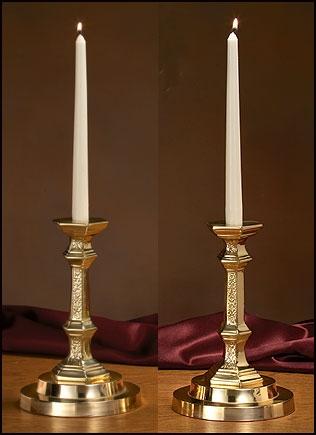 Budded Candlesticks with Filigree Design - Set of 2