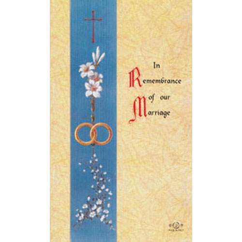 Marriage Blank Back Holy Card