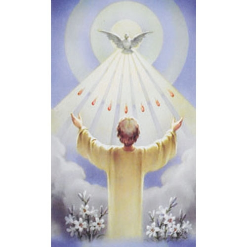 Confirmation Blank Back Holy Card