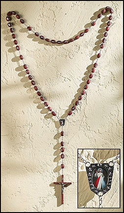 Divine Mercy Wood Wall Rosary