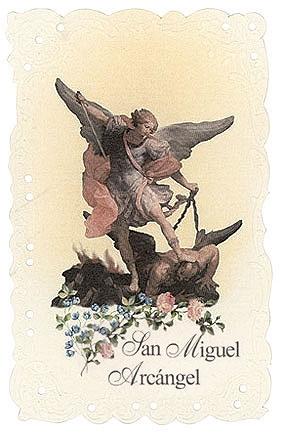 San Miguel Arcángel Holy Card - 24/PK