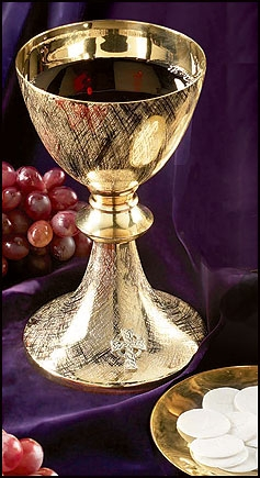 Celtic Cross Chalice with Paten