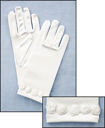 Rosebuds - First Communion Gloves