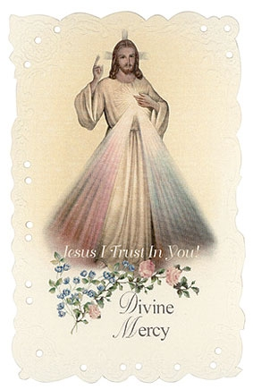 Divine Mercy Holy Card