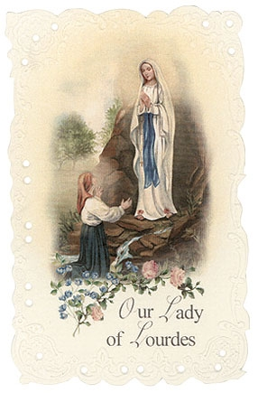 Our Lady of Lourdes Holy Card