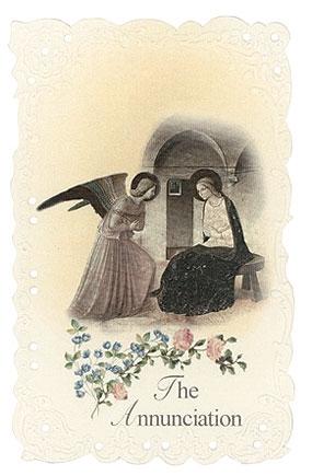 The Annunciation Holy Card - 24/PK