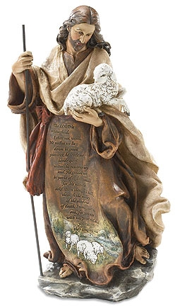 """12-1/4"""" Good Shepherd Figurine"""
