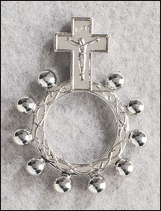 Crucifix Rosary Ring - 50/pk