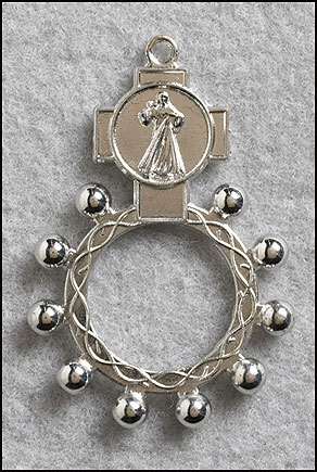 Divine Mercy Rosary Ring - 50/pk