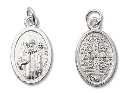 St Benedict/St Benedict Medal Mini Devotional Medal - 100/pk