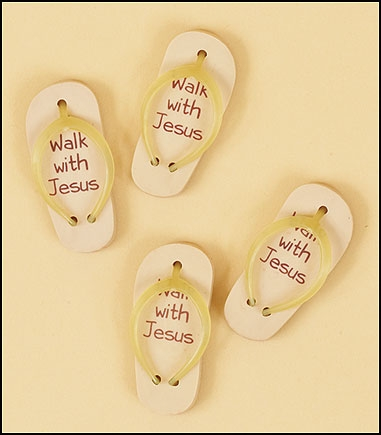 Walk with Jesus Sandal Eraser