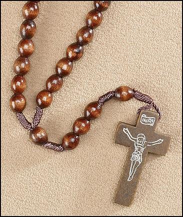 Dark Brown Corded Rosary - 24/pk