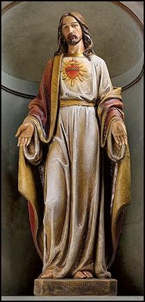 "48"" Sacred Heart Statue"