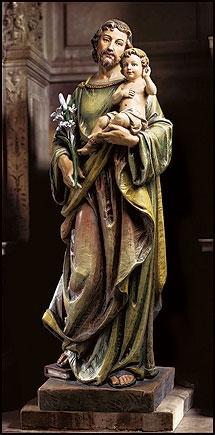 "48"" Saint Joseph with Child Statue"