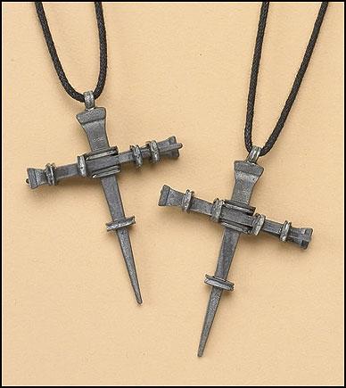 Nail Cross Pendant - 24/pk