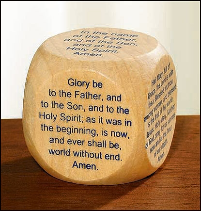 Favorite Catholic Prayers Prayer Cube™ - English