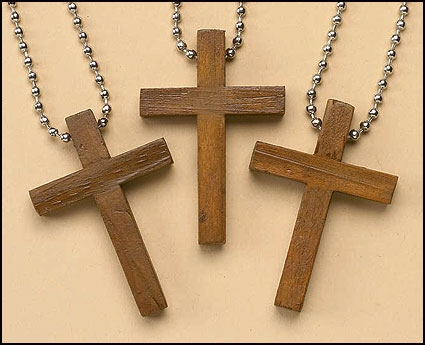 Wooden Cross Keychain - 24/pk