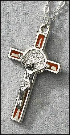 Brown St Benedict Pendant - 12/pk