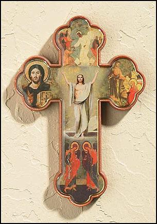 Risen Christ Cross - 12/pk