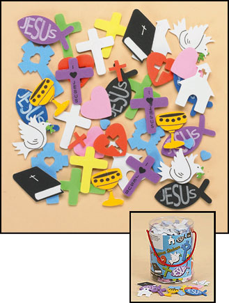 Religous Foam Sticker Assortment