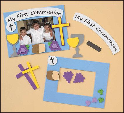 First Communion Frame Foam Craft Kit - 12/pk - Gifts