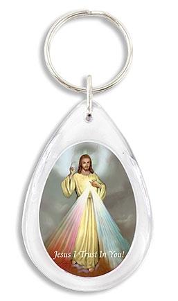 Divine Mercy Devotional Key Chain - 24/pk