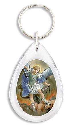 St. Michael Devotional Key Chain - 24/pk