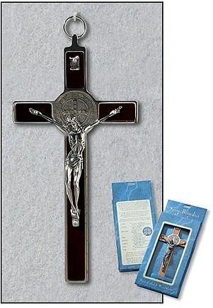 Black St Benedict Wall Crucifix
