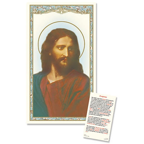 Head of Christ Laminated Holy Card - 25/PK