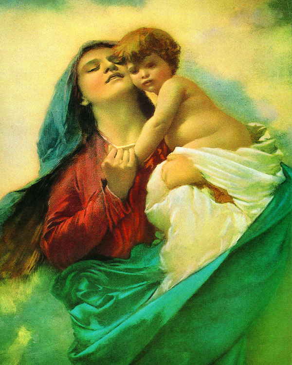 "Madonna and Child 8x10"" Print"