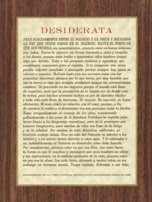 Spanish Desiderata - Print