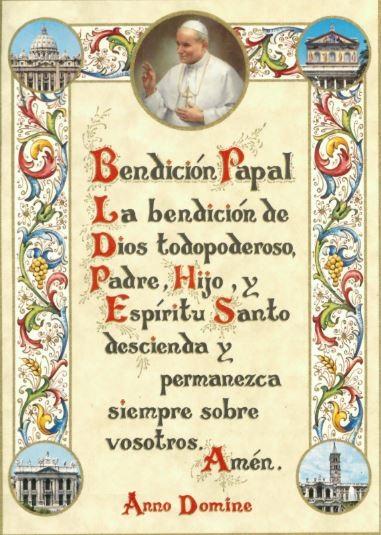 Benediction Papal - Print