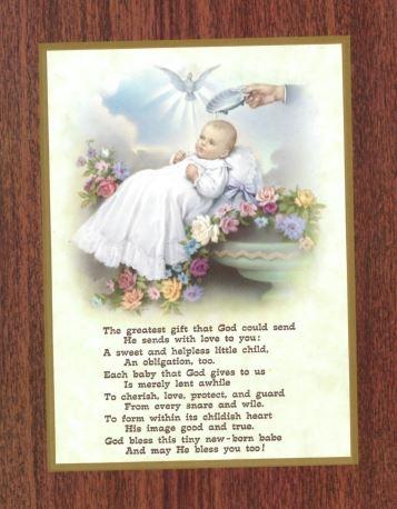 Baby's Baptismal - Print