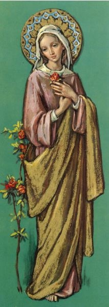 Madonna with Roses - Print