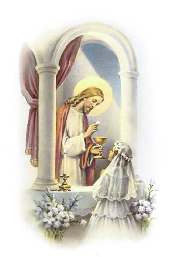 Communion Girl with Christ - Print